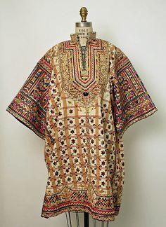 Wedding tunic Date: 1800–1967 Culture: Tunisian Medium: cotton, silk, wool, metallic Dimensions: Length: 38 1/2 in. (97.8 cm)