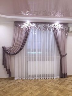 40 Amazing Woodworking Curtains Ideas - Decor Units in 2019 Classic Curtains, Elegant Curtains, Vintage Curtains, Beautiful Curtains, Modern Curtains, Living Room Decor Curtains, Home Curtains, Bedroom Decor, Curtain Styles