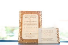 Neutral and rustic-inspired wedding invitation idea {Maite Photography}
