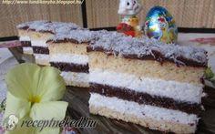Tejszínes-kókuszos sütemény recept fotóval