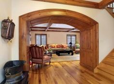 Wood flooring changes the acoustics of a home. It is easier to hear people coming and going. The entertainment center reverberates a little, too. Refinishing Hardwood Floors, Floor Refinishing, Wood Flooring, Foyer, Entryway, Fort Mill, Entertainment Center, Oversized Mirror, Arquitetura