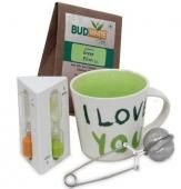 Stay Healthy A perfect morning combo for your special morning with your love. Stay healthy with this Green elixir Tea of 50 gms pack, 5.5 inches strainer, 4 inches long timer to mix the tea properly and a beautiful I love you mug. Shipping Status GiftsXper - Product Deliver by Courier in 4 to 7 Days