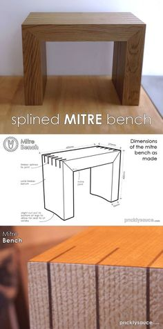 Sharpen up your plane blade, dust off your power tools and follow along with this Instructable to learn how to achieve perfect big scaled mitre joints and a great bench that looks as good as it is to sit on. #woodworking
