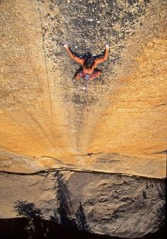 Ron Kauk on the technical route, Peace (5.13+), Tuolumne, Yosemite  photo: Chris Falkenstein