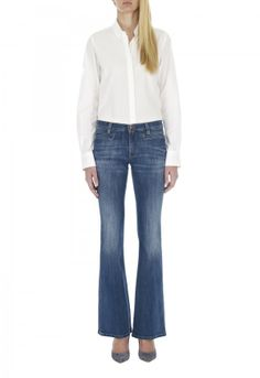 The CASABLANCA Jean - MID RISE, FLARE - Sugarblue - MiH Jeans