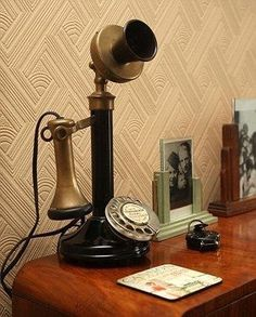 Retro haven: The Victorian cottage Ben transformed is full of quirks such as a phone which only receives calls Telephone Vintage, Vintage Phones, Radios, Vintage Vibes, Retro Vintage, Antique Phone, Art Nouveau, Murdoch Mysteries, Victorian Cottage