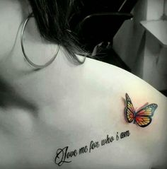 Amazing 3D Butterfly Tattoo