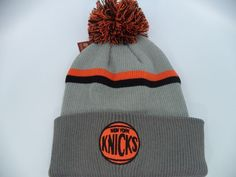 Nba new york #knicks #cuffed knit beanie #bobble basketball cap hat,  View more on the LINK: 	http://www.zeppy.io/product/gb/2/152350916832/