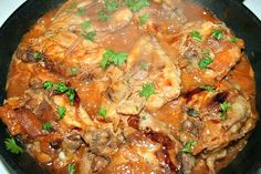 Skinless Chicken Thighs with Shallots in Red Wine Vinegar