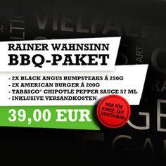 Für kurze Zeit gibt´s das Rainer Bonhof BBQ-Paket: leckere Steaks, saftige Burger und eine passende Sauce. Einfach klicken und direkt bestellen.