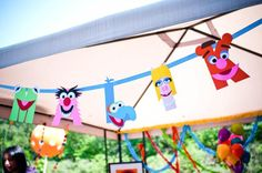 Love the Banner for Muppet Birthday Party!