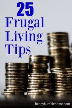 25 Frugal Living Tips - I've saved $250 this month with these tips! You have to try this.