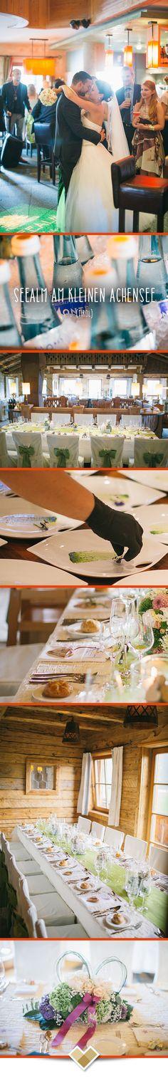 Die Seealm am kleinen Achensee ist eine top Hochzeits-Location in Tirol. Hier wird das gesamte zweigeschossige Gebäude für eure Hochzeit genutzt: Aperitif gibt es bei schönen Wetter auf der großen Terrasse vor der Seealm. Das Hochzeitsmenü genießt ihr im Obergeschoss und die Party kann dann im Erdgeschoss mit Bar und Tanzfläche bis in die frühen Morgenstunden dauern. Mehr Infos: http://hochzeits-location.info/hochzeitslocation/seealm-am-kleinen-achensee Bilder: http://www.formafoto.net/