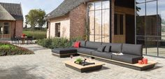 The Air Collection is a collection of outdoor sofas designed by Manutti Designer Studio. Style At Home, Outdoor Lounge, Outdoor Living, Outdoor Seating, Exterior Design, Interior And Exterior, Garden Sofa, Home Fashion, My Dream Home