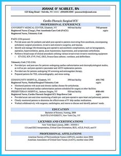 Experienced Nursing Resume   Pinteres