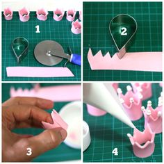 Creative Cake Decorating For A Kid's Birthday Fondant Figures, Cake Decorating Techniques, Cake Decorating Tutorials, Fondant Toppers, Fondant Cakes, Fondant Crown, Deco Cupcake, Decors Pate A Sucre, Cake Blog