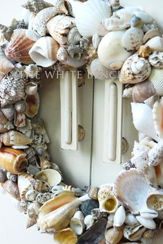 One of these days I'm going to make a seashell wreath. The White Bench