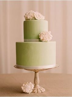 LOVE this cake. Although, I would like the green to be a bit more vibrant and to have Gerber daisies instead of the flowers on it