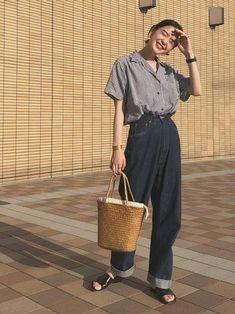 How often do you run across something fabulous, that influences your style? Then, shop the pieces our editors are praising right now. Korean Outfits, Mode Outfits, Casual Outfits, Fashion Outfits, Womens Fashion, Fashion Trends, Fashion Tips, Next Fashion, Japan Fashion