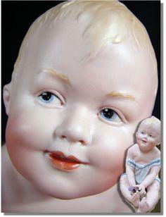 Heubach Porcelain Piano Babies - Heubach Hansi