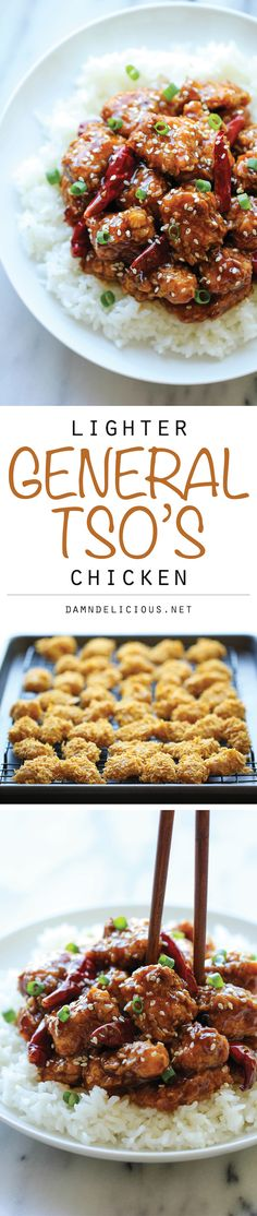 Lighter General Tso's Chicken | http://damndelicious.net/