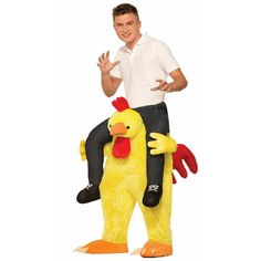 Chicken Fight Costume - Adult, Men's, Multicolor