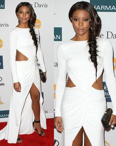 Gabrielle Union at Clive Davis and The Recording Academy's 2012 pre-Grammy Gala held at The Beverly Hilton hotel in Los Angeles, California, on February 11, 2012