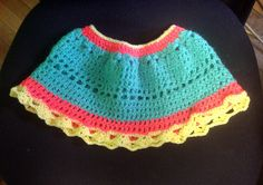 mini skirt or pancho for babies - crochet