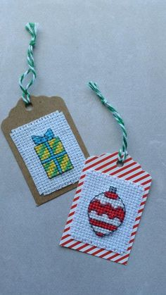 How to Finish a Cross Stitch Gift Tag - And Sew We Craft More