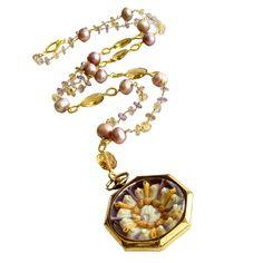 Very interesting... Ametrine Champagne Citrine & Pearls Vintage Sailor's Valentine
