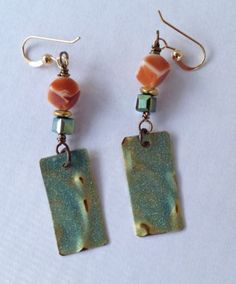 LH bead earrings.   Ann Schroeder, Bead Love.  Blog Hop, Nov. 2014.