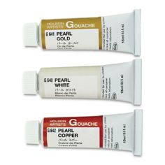 Holbein Artists' Gouache is Japan's foremost artists' color medium. Made from the best pigments selected for high density saturation and lightfastness. Holbein Artists' Gouache will always give consistent reliable results. Available in 15 ml. Tubes.