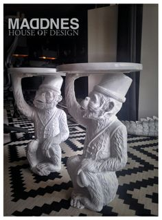 Monkey table white - MADDNES House of Design Collection 2014