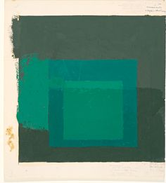 dcptvlysmpl:  Josef Albers, Color Study for Homage To The Square