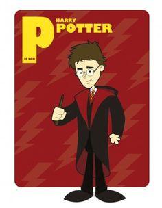P is for Harry Potter - Harry Potter Alphabet Characters
