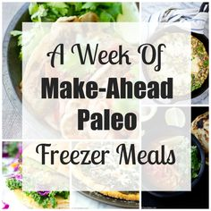 Week of Make-Ahead Paleo Freezer Dinners It's easy to eat healthy by planning ahead! Here is a week of easy paleo freezer dinnersIt's easy to eat healthy by planning ahead! Here is a week of easy paleo freezer dinners Paleo Freezer Meals, Paleo Meal Prep, Easy Paleo Dinner Recipes, Freezer Food, Clean Eating Recipes, Healthy Eating, Healthy Foods, Cena Paleo, Post Workout Food