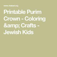 Printable Purim Crown - Coloring & Crafts - Jewish Kids