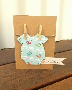 Handmade gift card - Oh so handsome new baby boy onesie - 3 for $12 + postage…