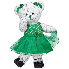 Lucky Shimmerin' Shamrocks Bear - Build-A-Bear Workshop US / so cute all dressed up!