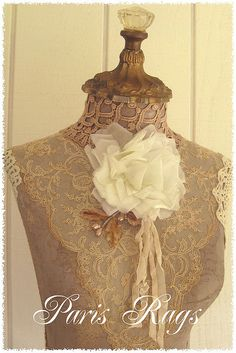 Paris Rags Form by kimberlyannryan, via Flickr......dressform inspiration