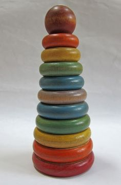 Wooden stacking toy from the 40's. I purchased this today. :)
