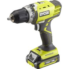 Perceuse sans fil RYOBI R14dd4ell15s 14v 1.5Ah 2 batteries lithium-ion Cordless Tools, Power Tools, Drill, Porn, Guns, Products, Easy Diy, Weapons Guns, Electrical Tools