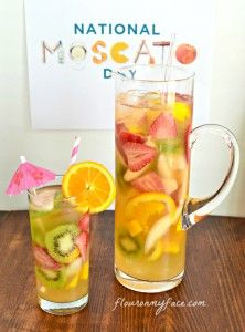 Gallo White Moscato Sangria Recipe   #MoscatoDay