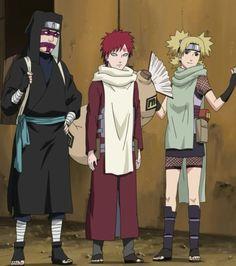 Hermanos de la arena Naruto