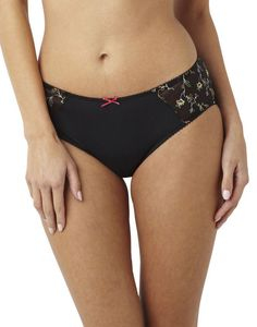 Panache 7662 Rhapsody Brief Knickers Black Floral Various Sizes  Lingerie