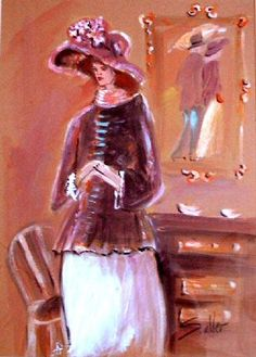 Woman with a hat by Shlomo Alter now featured on ArtDealer