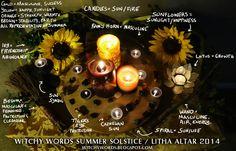 Witchy Words: Midsummer / Summer Solstice / Litha Altar 2014