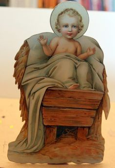 Die-Cut stand-up Baby Jesus, very pretty item It is for sale