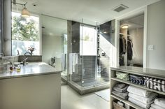 Sleek and modern bathroom.