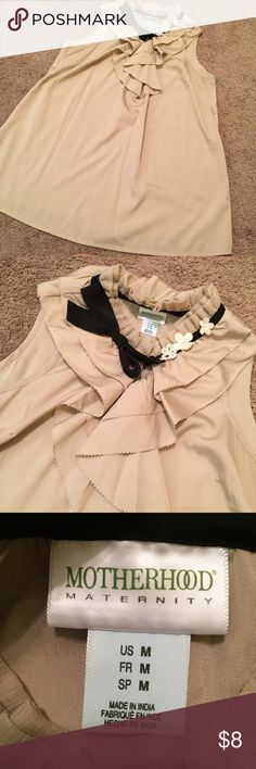 Beautiful Motherhood Maternity blouse Excellent work blouse , missing the belt ( please see pictures) awesome condition Motherhood Maternity Tops Blouses